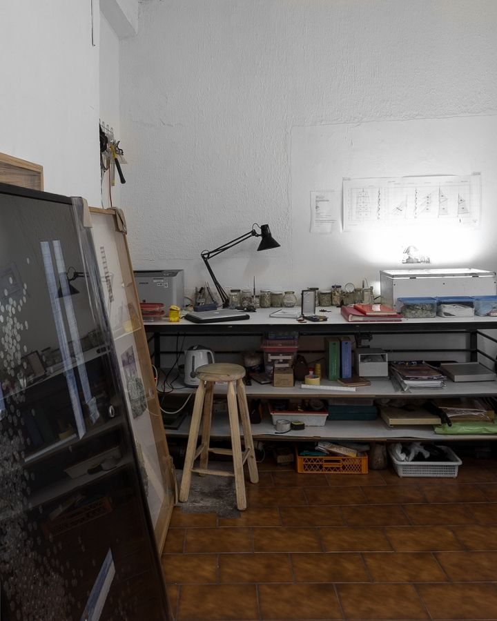 El taller de Claudio Correa. Foto: Felipe Ugalde