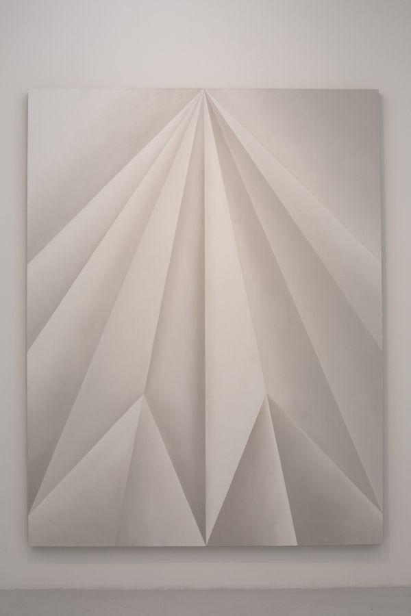 Gonzalo Lebrija, Unfolded Painting (Vega), 2016, óleo sobre lino, 240 x 185.5 cm. Cortesía: Gonzalo Lebrija y Travesía Cuatro
