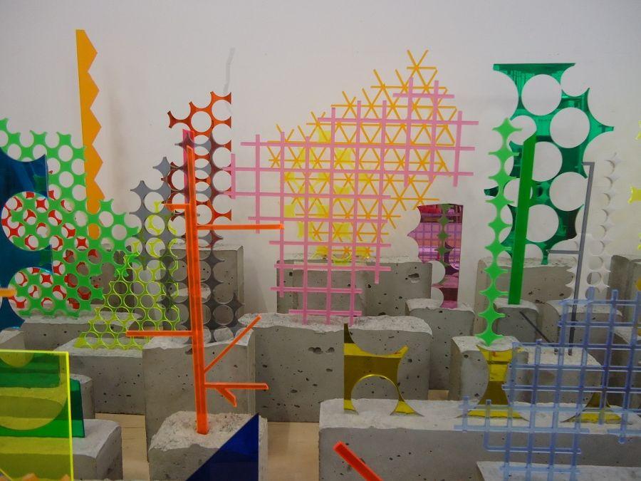 Vista del taller de David Batchelor. Foto: Alejandra Rojas Contreras
