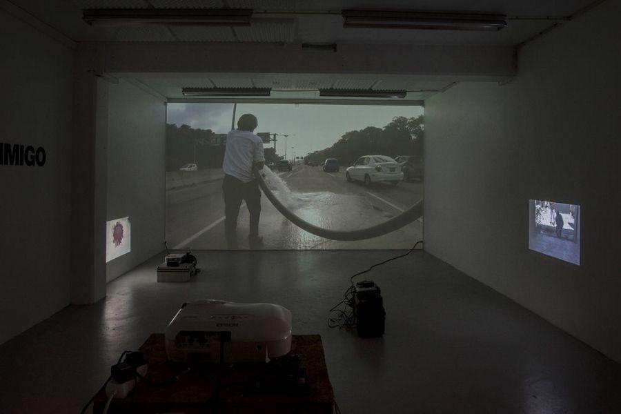 Crack Rodríguez, La Trinidad, 2016. Proyección de video. Foto: Jan Inge Haga