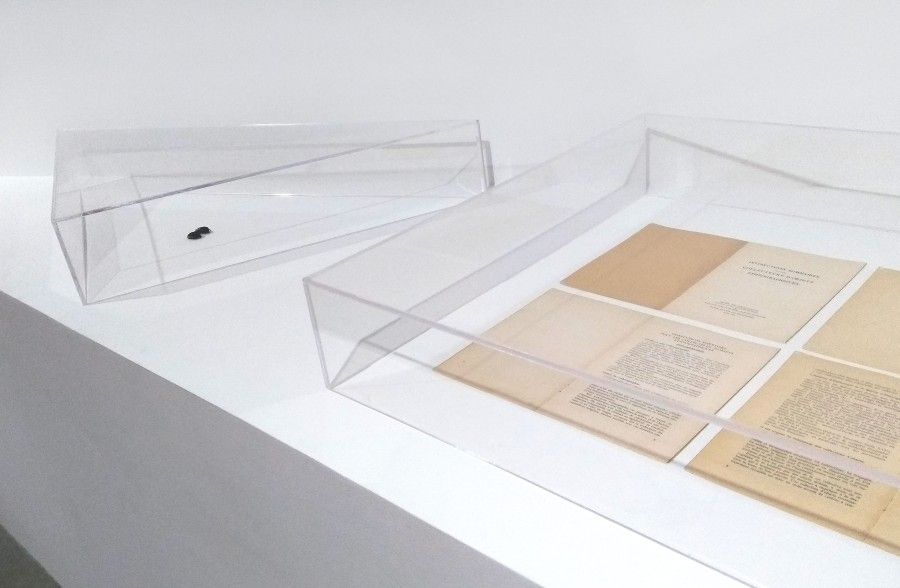 "Mathieu Kleyebe Abonnenc, ""Index, summary instructions and anatomy"", 2014. Foto: Úrsula Ochoa"