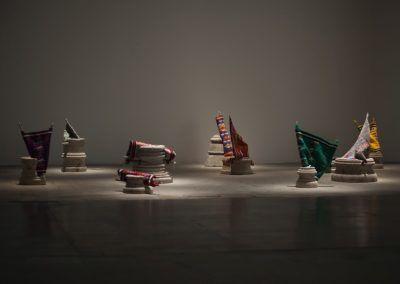 Cynthia Gutiérrez, Cántico del descenso I – XI, 2014. Vista de la obra en la Esposizione Internazionale d'Arte - La Biennale di Venezia, Viva Arte Viva. Foto: Italo Rondinella. Cortesía: La Biennale di Venezia