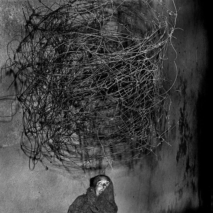 Twirling Wires (2001) de Roger Ballen, parte de su primera exposición en Chile, en Matucana 100, Santiago. Foto: cortesía Matucana 100.