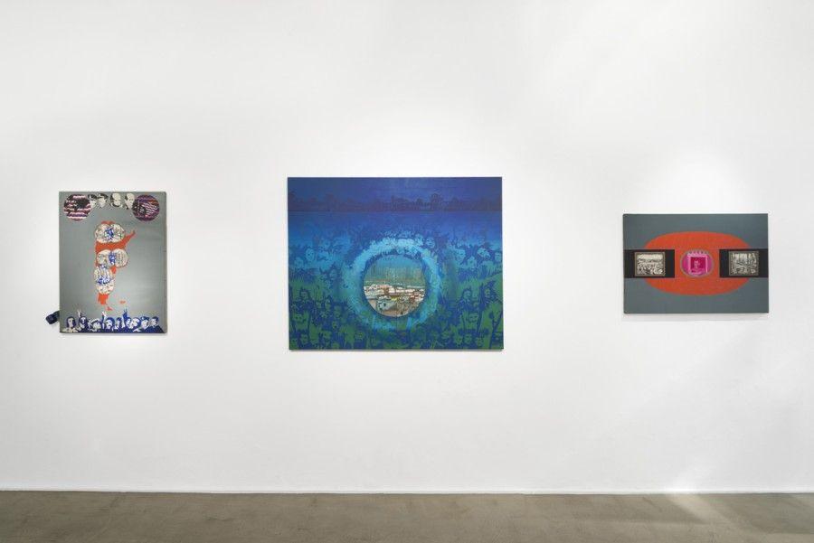 """Vista de la exposición """"Elda Cerrato: Algunos segmentos"""", en Henrique Faria Buenos Aires, 2017. Cortesía de la galería"""