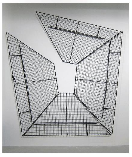 Francisca Benítez, Open Composition in Steel, 2011, objeto encontrado intervenido, 2,4 x 2,4 mts. aprox.