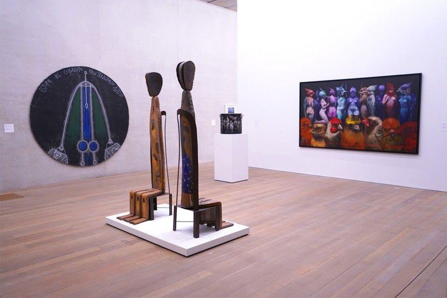"Vista de la exposición ""On the Horizon: Contemporary Cuban Art from the Jorge M. Pérez Collection"", en el Pérez Art Museum Miami (PAMM), 2017. Foto cortesía del PAAM"