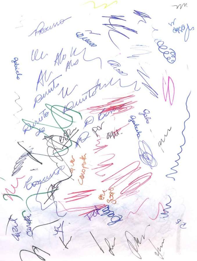 """""""Nuevos pensamientos imbéciles"""", de Martín Legón, en Barro, Buenos Aires, 2017. Cortesía del artista y la galería"""