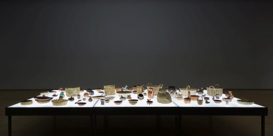Bernardo Oyarzún, Mecánica de suelos, 2009. Vista de la instalación en Galería Patricia Ready, Santiago de Chile, 2017. Foto: Felipe Ugalde