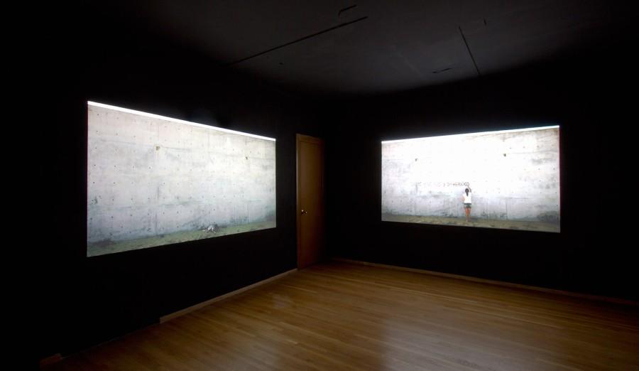 """Vista de la exposición """"Bienvenidos"""", de Marilá Dardot, en Arredondo Arozarena, Ciudad de México, 2017. Cortesía de la galería"""