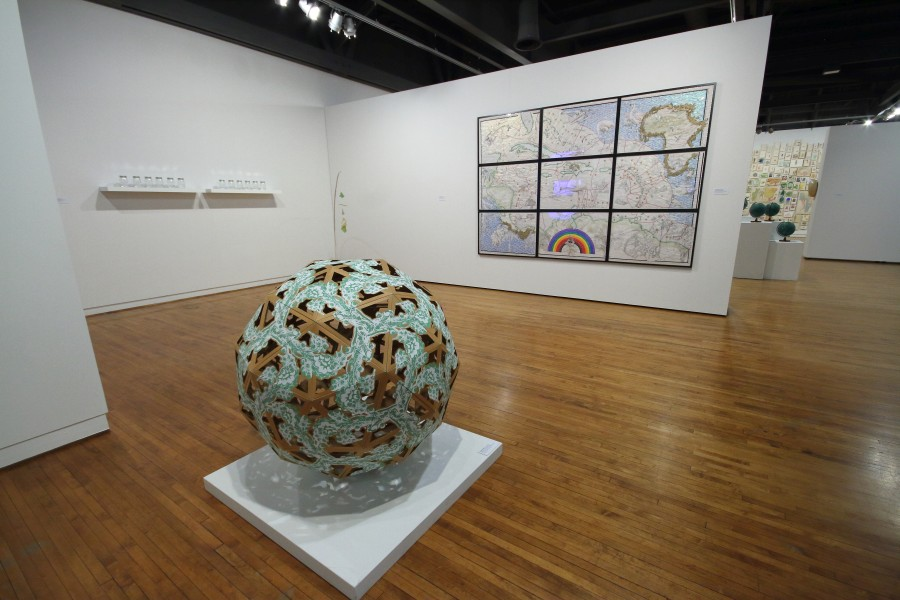 "Installation view of ""Relational Undercurrents: Contemporary Art of the Caribbean Archipelago "", at the Museum of Latin American Art (MOLAA), Long Beach, California, 2017. Photo courtesy of MOLAA"