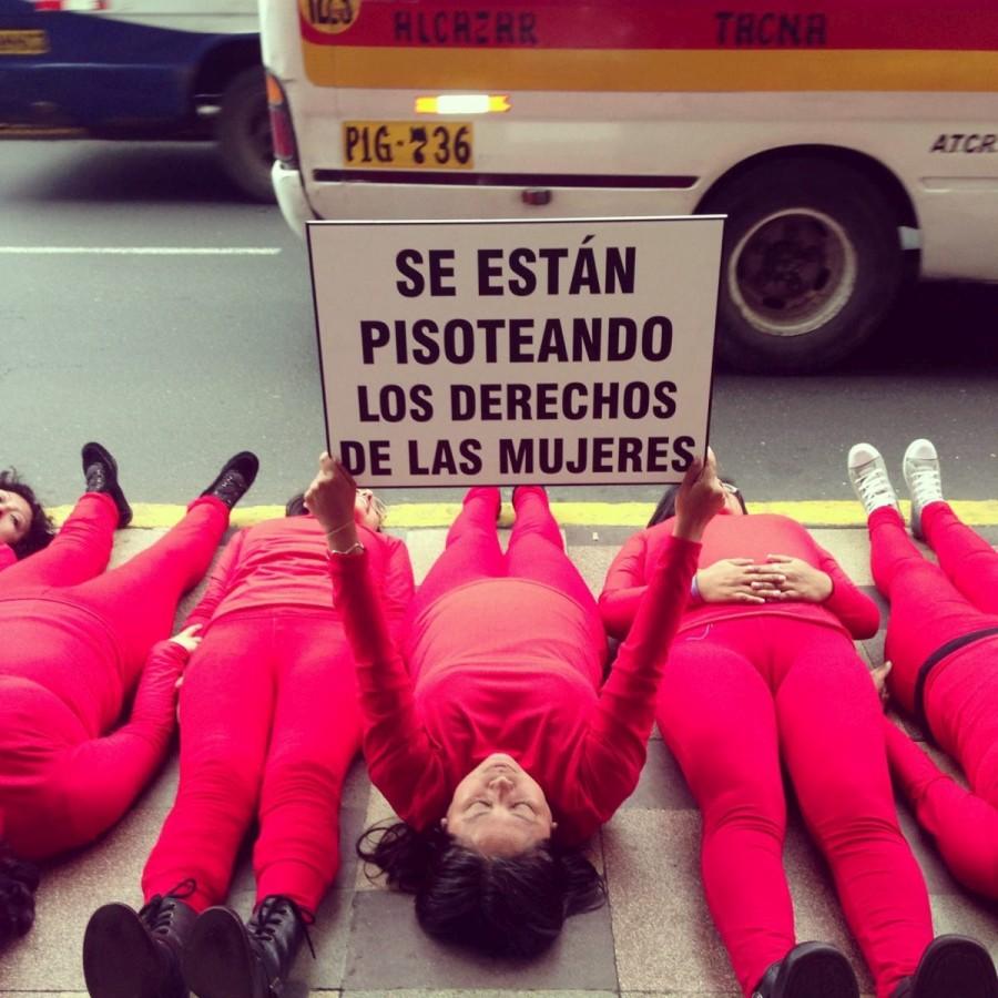 Acción de calle de Alfombra Roja, Perú. Cortesía: Alfombra Roja