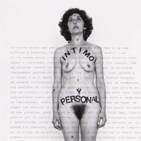 Esther Ferrer, Intimo y Personal (Partitura), 1977. Cortesía: Museo Reina Sofía, España. 2017.