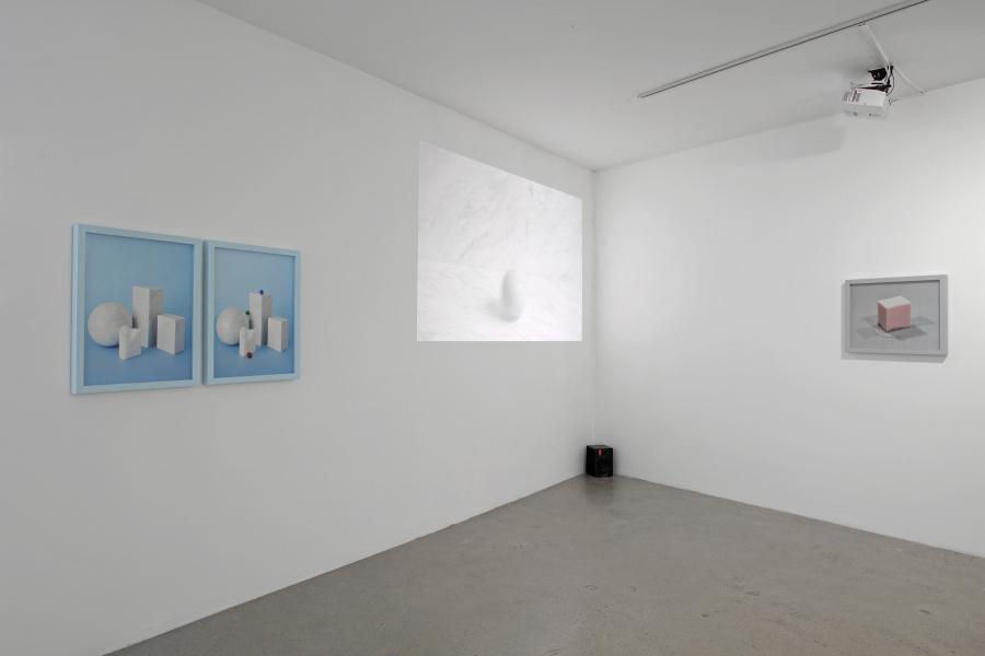 Vista de la muestra La materia como estado mental de Mauricio Alejo en Galería CURRO, Guadalajara, México. Foto: cortesía de la galería.