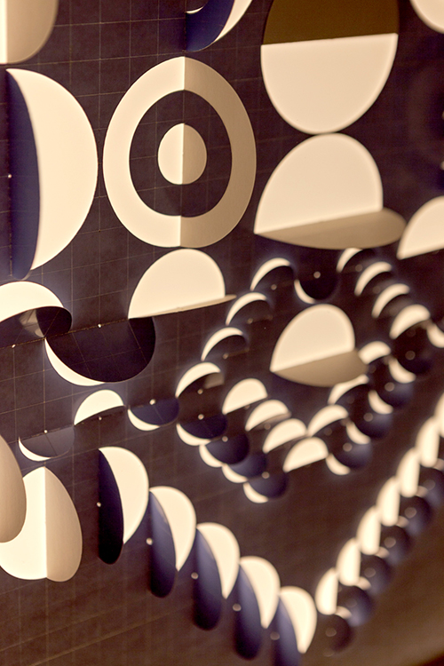 Detalle de la obra N° 14, parte de la muestra Dibujos de Luz de Benjamín Ossa en Galería Artespacio, Santiago de Chile. Foto: Sebastián Mejía, cortesía del artista.