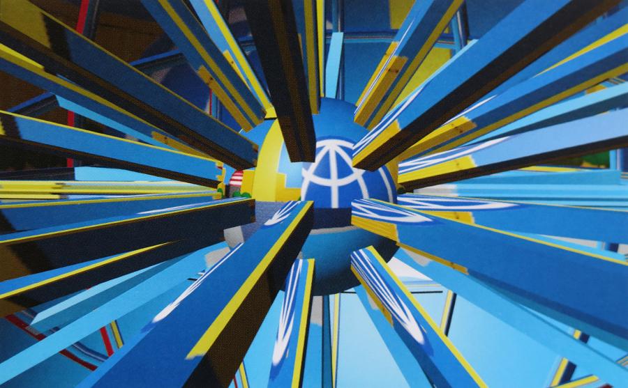 Matt Mullican, Computer Project, 1989, still de video. Cortesía del artista