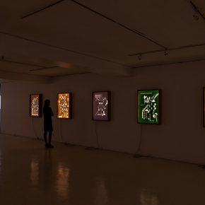 Vista de la muestra Dibujos de Luz de Benjamín Ossa en Galería Artespacio, Santiago de Chile. Foto: Sebastián Mejía, cortesía del artista.