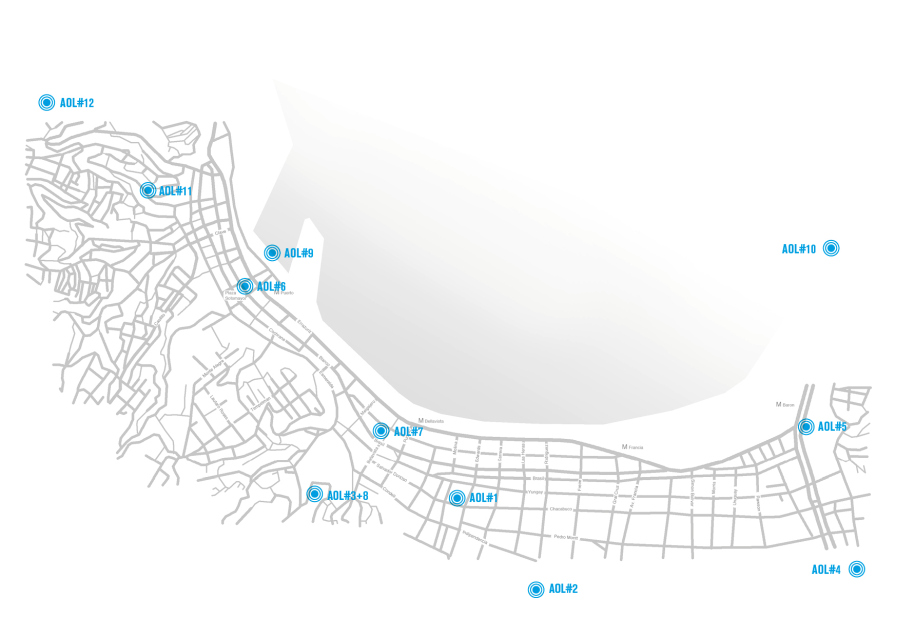 Acts of Listening. Mapa de acciones en la ciudad de Valparaíso, Chile, 2017. XI Festival de Arte Sonoro Tsonami. Cortesía: Acts of Listening