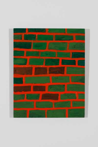 Dulce Gómez, Ladrillo nº 1 (2011). Acrílico sobre tela sobre madera aglomerada. 50 x 40 cm (19 5/8 x 15 3/4 in.). The Bronx Museum of the Arts. Promised gift of Patricia Phelps de Cisneros in honor of the DREAMers (DACA)