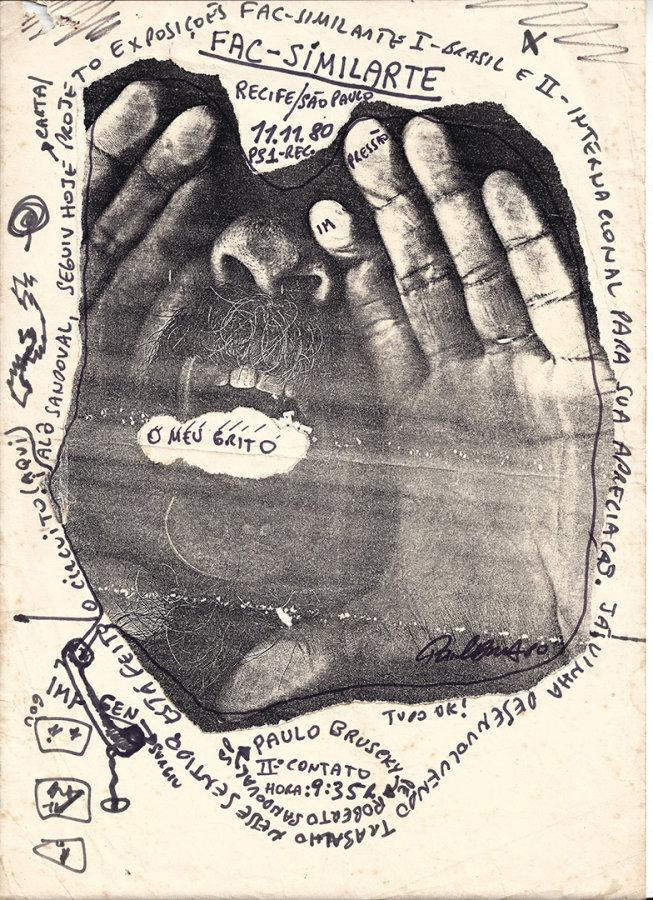 Paulo Bruscky, Fac-similarte, 1980, xerografía sobre papel, 33 x 21,5 cm. Cortesía: Universidad de San Diego, California.