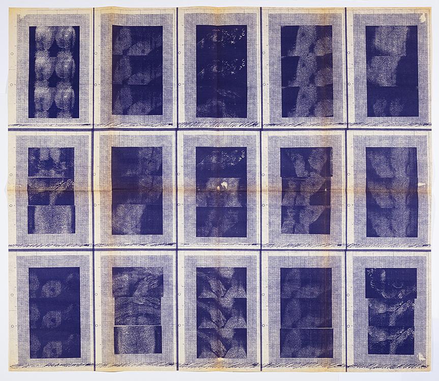 Hudinilson Jr. Exercicio de me ver (Ejercicio para verme) 1980, Papel, Tinta (Fotocopia y dibujo a tinta sobre papel), 47 x 108,3 cm. Pieza única. Colección Museo Reina Sofía
