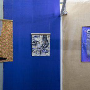 Vista instalación No tengo fuerzas para rendirme, parte de la muestra No tengo fuerzas para rendirme de Gala Berger en Galería Nos Vemos, San José, Costa Rica. Foto: Roberto D'Ambrosio, cortesía de la artista.