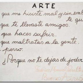 Arte, 1983, de Federico Manuel Peralta Ramos, en delinfinitoarte, Bogotá