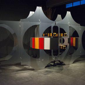 La Máquina del Deseo, de Manuel Felguérez, en Galería Páramo, Guadalajara, México, 2018. Cortesía de la galería