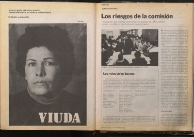 VIUDA. Arte-Política. Género, 1985, by C.A.D.A. Lotty Rosenfeld y Diamela Eltit. En galería Isabel Aninat