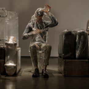 Crisálida, instalación/performance de Pepe López, 2017. Vista de la exposición