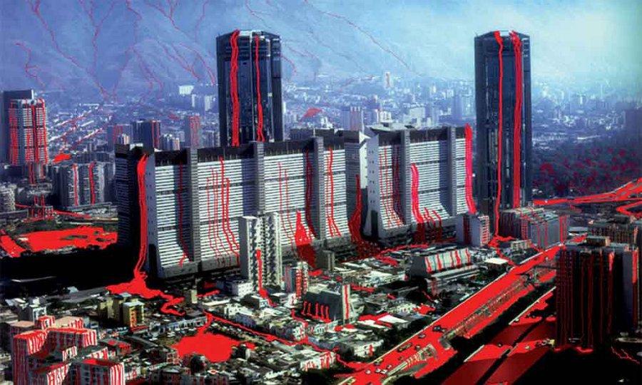 Nelson Garrido, Caracas sangrante, 1993. Cortesía del artista