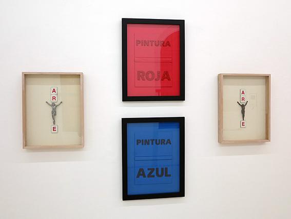Carlos Montes de Oca, Arte I y II (2012) y Pintrura Roja y Pintura Azul. Cortesía: Die Ecke