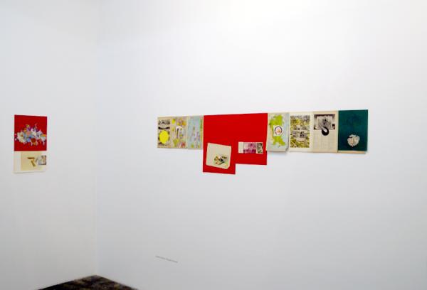 Vista de exposición Lo Político. Obra de Camilo Barboza, Todo está iluminado, 2014. Cortesía: Carmen Araujo Arte