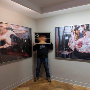 Carlos Gallardo en su exposición