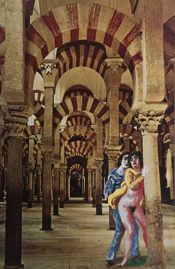 Antonio Berni, Sin título, ca.1975, técnica mixta, 29 x 21 cm. Cortesía: Cosmocosa, Buenos Aires