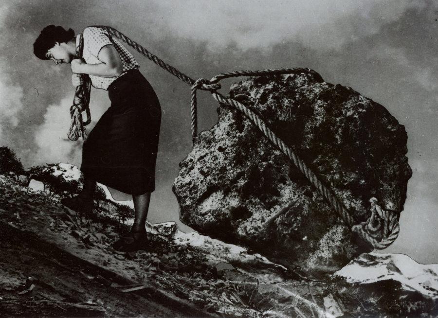Grete Stern, Sueño Nº 15, 1949, fotografía, 20,8 x 29 cm (aprox). Cortesía: Jorge Mara La Ruche, Buenos Aires