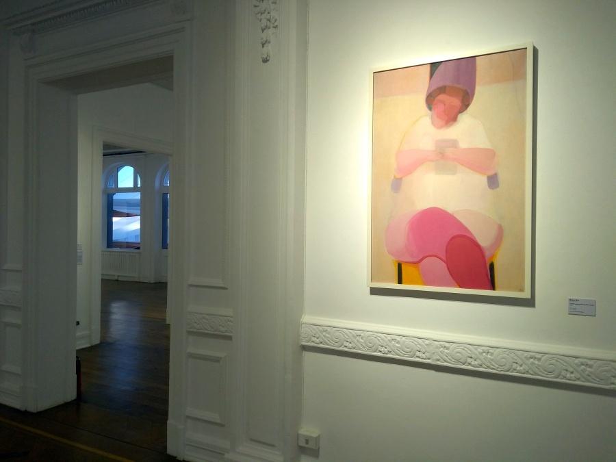 Roser Bru, También usted puede ser bella y amada, 1973, óleo sobre tela, 120 x 80 cm. Colección Carlos Javier Núñez