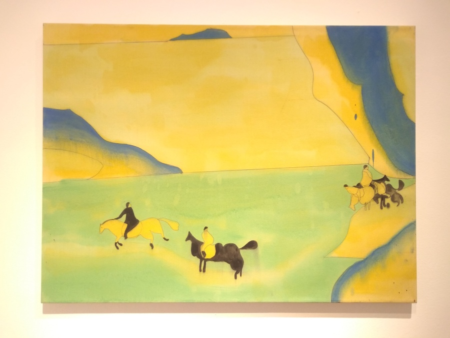 Vicente Matte, Cordillera, 2016, óleo sobre tela, 98 x 132 cm. Colección Ca.Sa