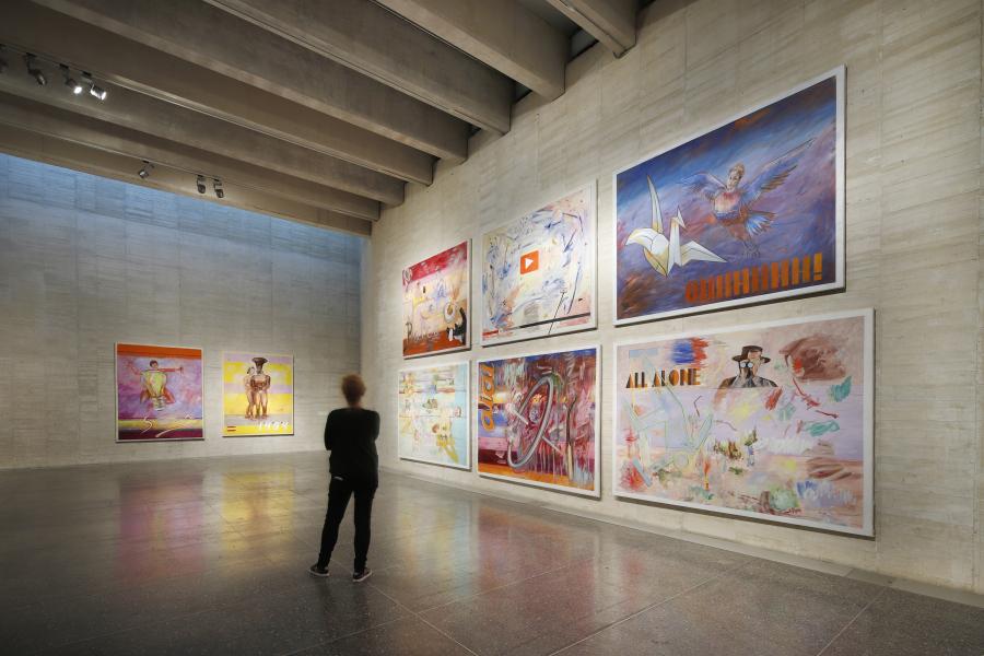 Juan Dávila: pintura y ambigüedad. Vista de la exposición en MUSAC, 2018. Cortesía del museo