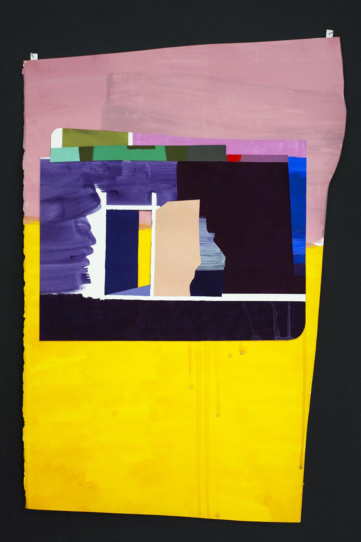Grace Weinrib, La Puerta, 2018, gouache, papel, collage, 66 x 43 cm. Foto: Esteban Vargas Roa. Cortesía de la artista y Die Ecke Arte Contemporáneo, Santiago