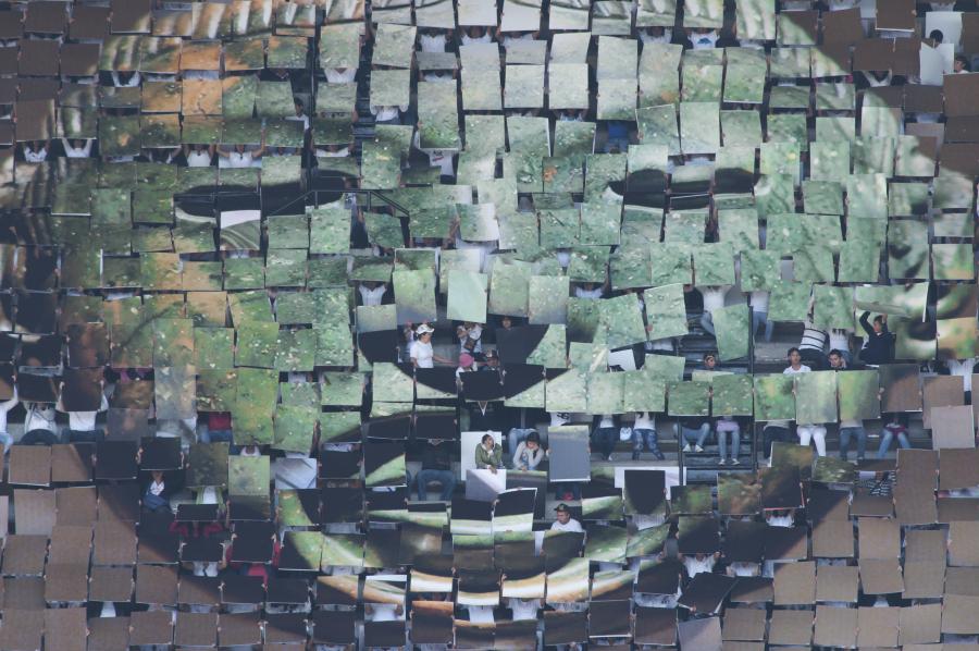 Melanie Smith y Rafael Ortega, Aztec Stadium. Malleable Deed, 2010, video full HD, 10:29. Cortesía de los artistas
