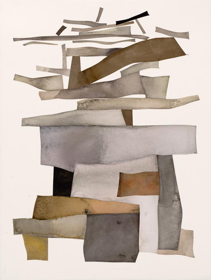 Irving Penn, Torre de Babel, 2006, tinta india con goma arábiga sobre grafito sobre papel montado en aluminio. © Fundación Irving Penn