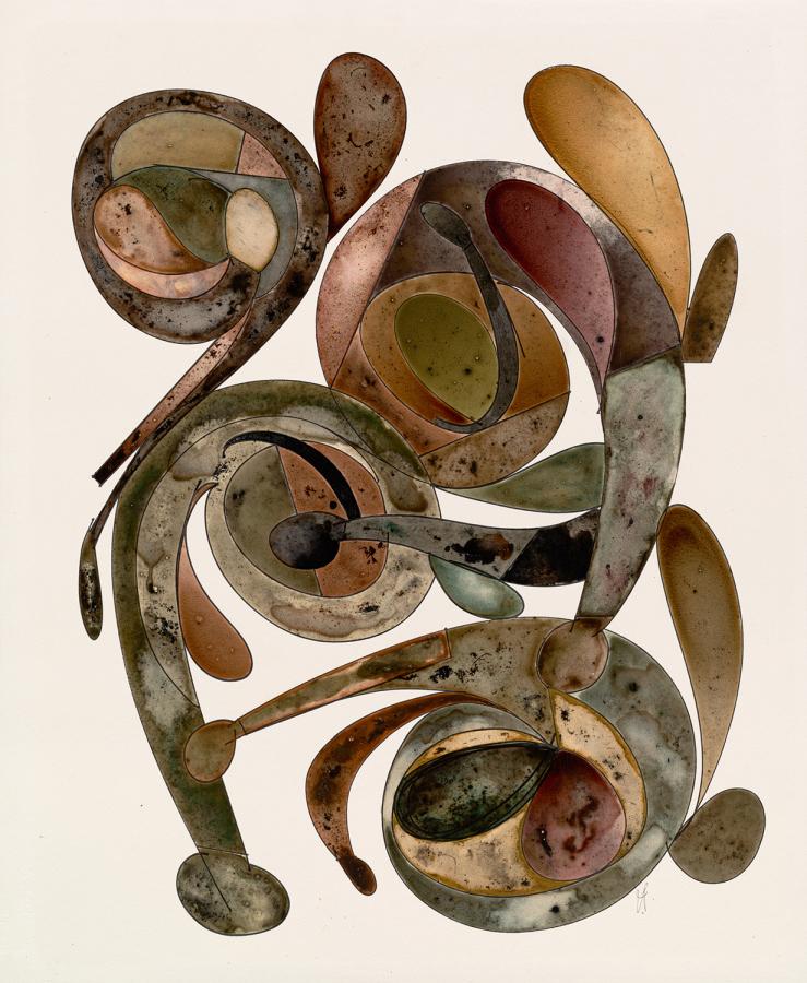 Irving Penn, Sin título, Nueva York, ca. 1987, impresión de paladio y platino, tinta, acuarela y pigmento seco sobre papel montado en aluminio. Pieza única. © The Irving Penn Foundation