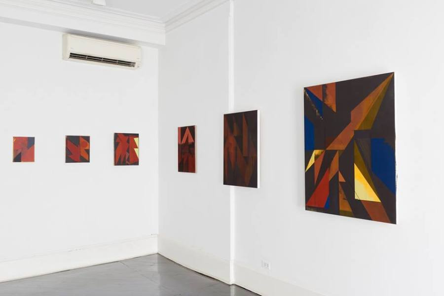 """Installation view of """"Jaime Gili: Dark Paintings"""", at Henrique Faria Fine Art, New York, 2018. Photo: Arturo Sánchez. Courtesy of the artist and HFFA"""