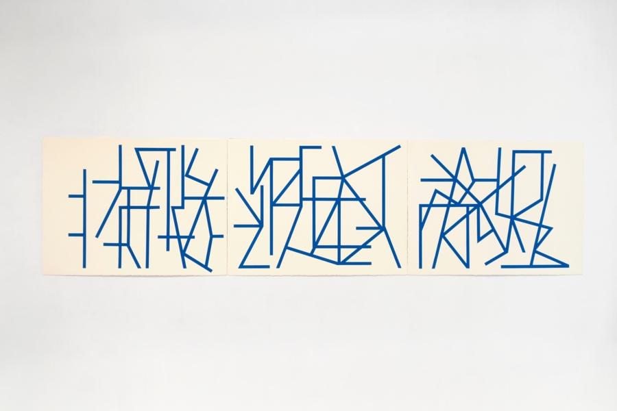 Diana de Solares, Sin título, 2018. Pintura flashe sobre papel de algodón, 57 x 228 cm. En Henrique Faria Fine Art, Nueva York/Buenos Aires. Cortesía: ARTBO