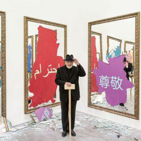 Michelangelo Pistoletto, 2016, retratado por Philippe Servent en VNH Gallery, París. Cortesía del artista y Galleria Continua San Gimignano / Beijing / Les Moulins / La Habana