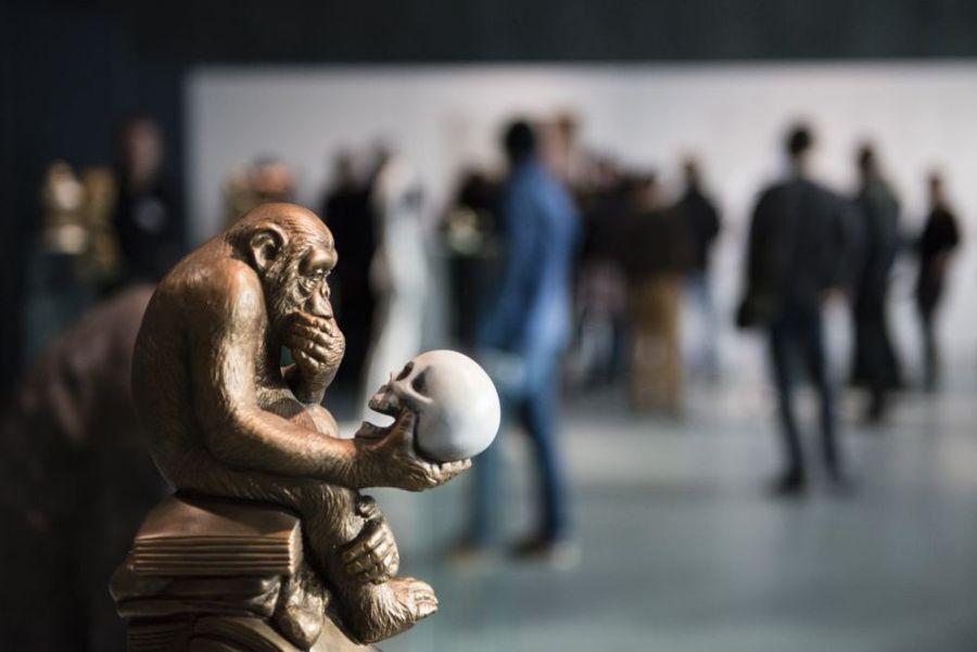Vista de la exposición Ape culture, 2015, en Haus der Kulturen der Welt (HKW), Berlín. Foto: © Sebastian Bolesch/HKW