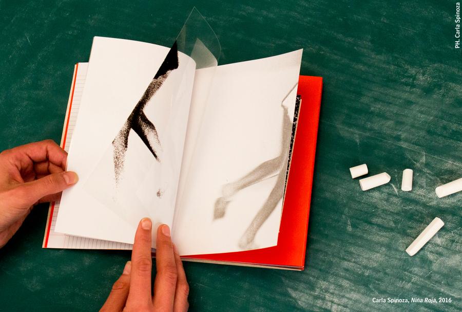 Carla Spinoza, Niña Roja (libro de artista), 2016. Cortesía: A Ediciones, Bolivia