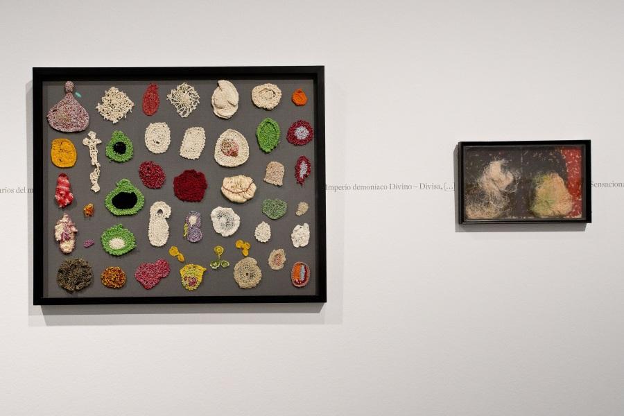 """Vista de la exposición """"Creación y delirio"""", de Jeanne Tripier, en La Casa Encendida, Madrid, 2018. Cortesía: LCE"""