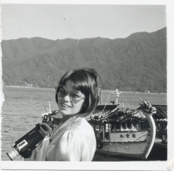 Carla Stellweg en el viaje a Osaka, Expo 70, 1970. Cortesía de Carla Stellweg y Museo del Chopo