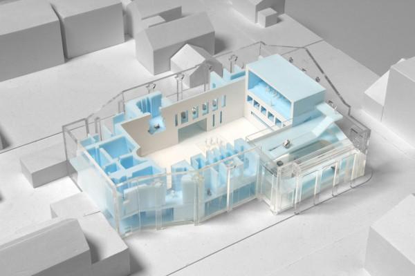 El modelo del MAI, de la firma de arquitectura OMA. ® OMA